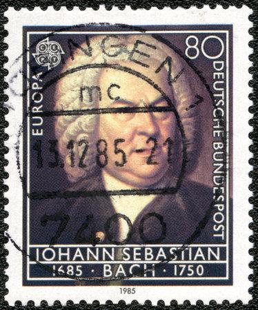 GERMANY - CIRCA 1985: A stamp printed in Germany shows Johann Sebastian Bach (1685-1750), circa 1985