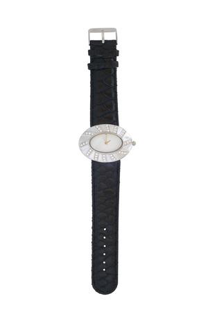 dialplate: Wristwatch isolated on white background Stock Photo