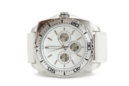 dialplate: Wristwatch on white background