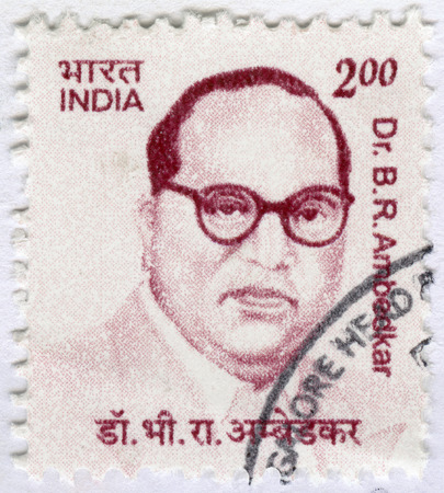 indian postal stamp: INDIA - CIRCA 2011: A stamp printed in India shows Dr. Bhimrao Ramji Ambedkar Jayanti (1891-1956), lawyer and leader in social reform, circa 2011