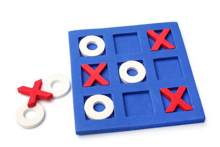 Tic-tac-toe game on white background photo