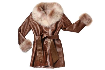 sheepskin: Sheepskin coat isolated on white background