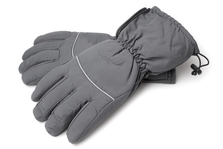 frost bound: Male warm gloves on white background