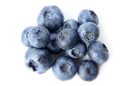 bilberries: Ripe bilberries on white background