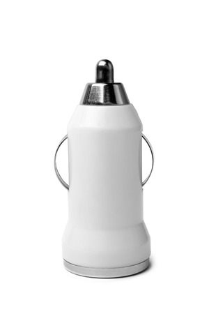 Car charger on a white background photo
