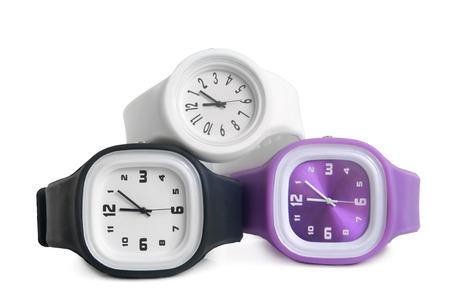 Wristwatches on white background photo
