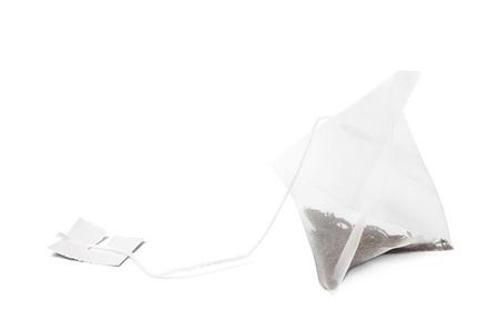 Bolsa de té sobre fondo blanco