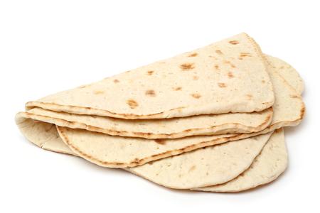 pain: Pile de galettes sur fond blanc