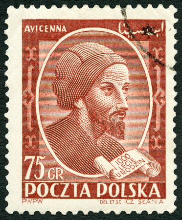 philosophy of logic: POLAND - CIRCA 1952: A stamp printed in Poland shows Avicenna (1452-1519), 1000th birth anniversary of Avicenna, Ibn-Sina, circa 1952 Editorial