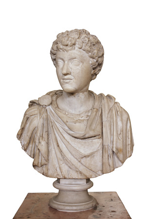 2nd century: Portrait of the Young Marcus Aurelius Emperor 161 180 AD the third quarter of 2nd century AD Marble Hermitage St. Petersburg Russia