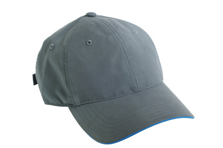 白い背景で隔離の灰色の野球帽