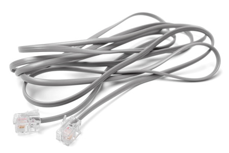 modem: Modem cable on white background
