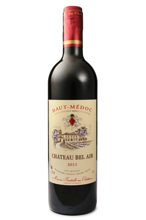 bel air: ST. PETERSBURG, RUSSIA - June 13, 2015: Bottle of Chateau Bel Air, Haut-Medoc, France, 2011 Editorial