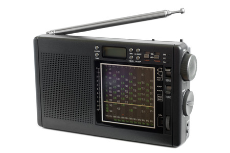 receiver: Radio receiver on white background