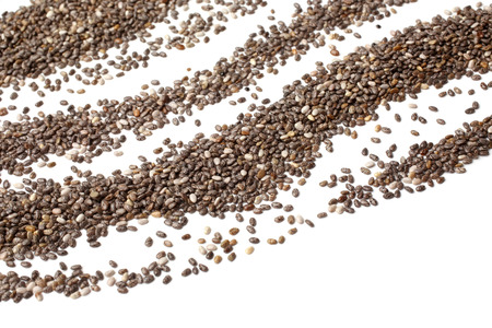 chien: Chia seeds on white background