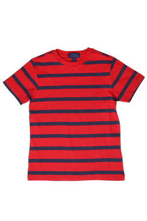 childrens wear: Childrens wear - striped t-shirt isolated on white background