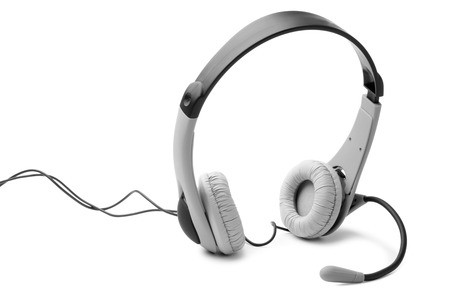 headset computer: Headset on white background