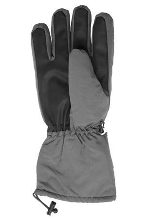 spliced: Male warm glove isolated on white background Stock Photo