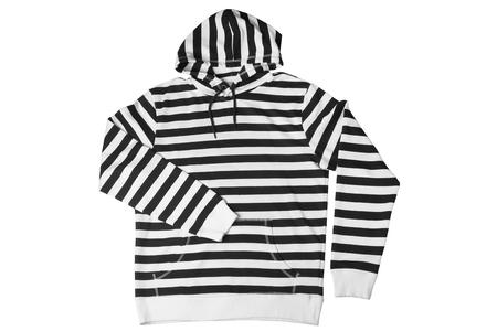 hooded shirt: Hooded shirt isolated on white background