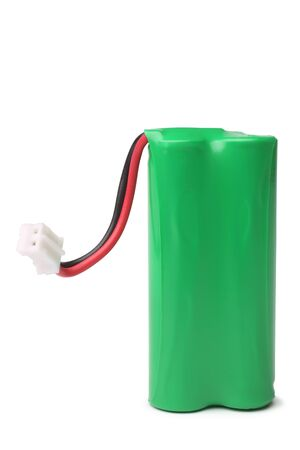 rechargeable: Rechargeable battery on white background