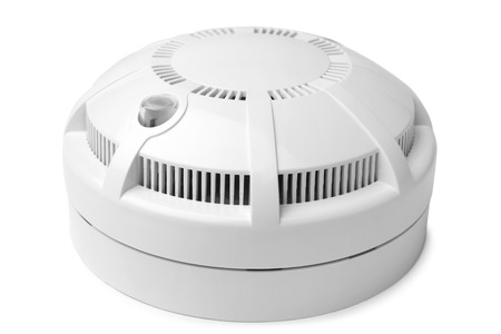 detector: Smoke detector on white background