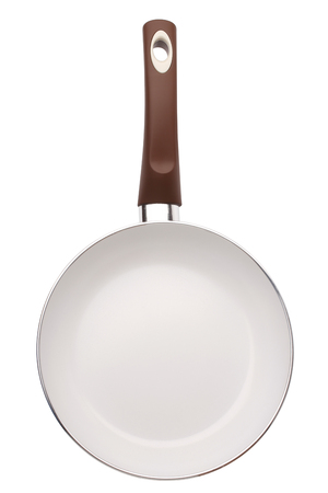 panful: Ceramic frying pan isolated on white background