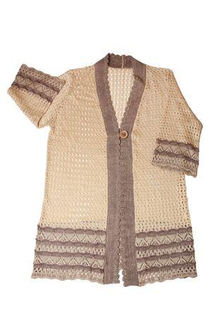 knitted jacket: Knitted jacket isolated on white background