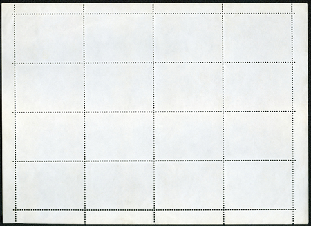 one sheet: Blank postage stamp block souvenir sheet on a black background