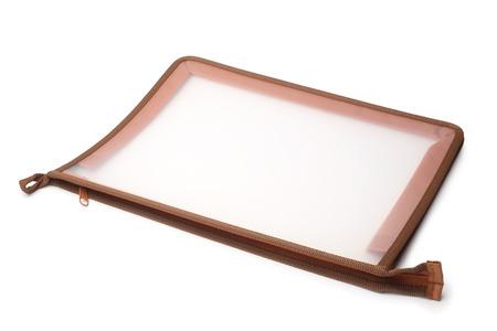 categorize: Plastic folder on white background
