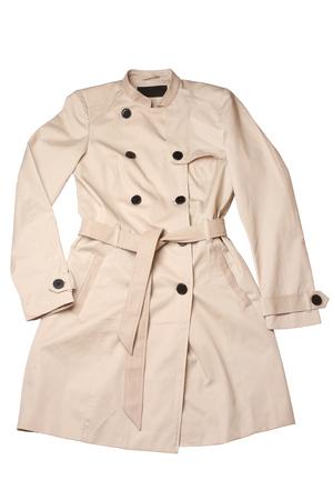 slicker: Women coat isolated on white background Stock Photo