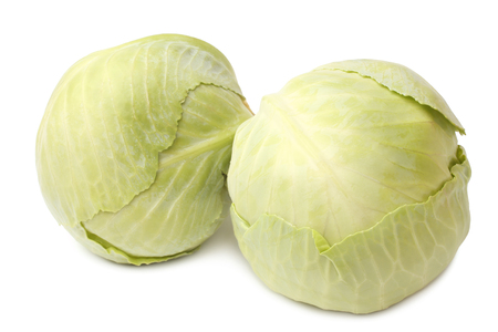 cabbages: Cabbage on white background