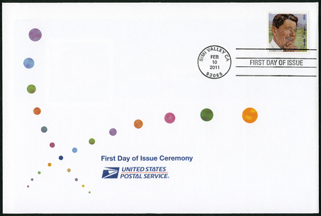ronald reagan: USA - CIRCA 2011: A stamp printed in United States shows Ronald Reagan (1911-2004), 40th President, circa 2011