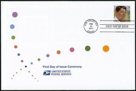 USA - CIRCA 2011: A stamp printed in United States shows Ronald Reagan (1911-2004), 40th President, circa 2011