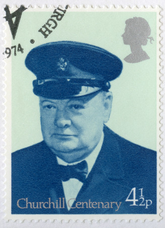 warden: UNITED KINGDOM - CIRCA 1974: A stamp printed in United Kingdom shows Sir Winston Spencer Churchill (1874-1965), Lord Warden of the Cinque Ports 1942, politician, circa 1974 Editorial