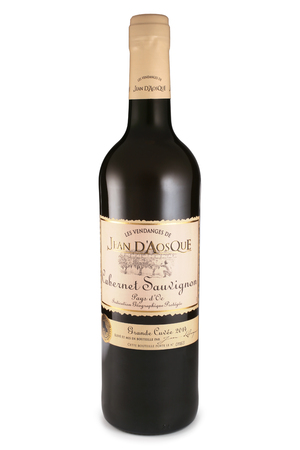 cabernet: ST. PETERSBURG, RUSSIA - November 07, 2015: Bottle of Jean dAosque Cabernet Sauvignon, France, 2014