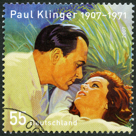 heinrich: GEMANY - CIRCA 2007: A stamp printed in Germany shows Paul Klinger Karl Heinrich Klinksik (1907-1971), actor, and Nadia Gray Kujnir(1923-1994), circa 2007