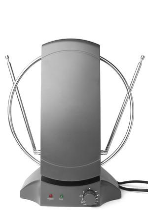 transmitting device: TV antenna on white background Stock Photo