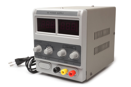 regulated: DC Power Supply on white background