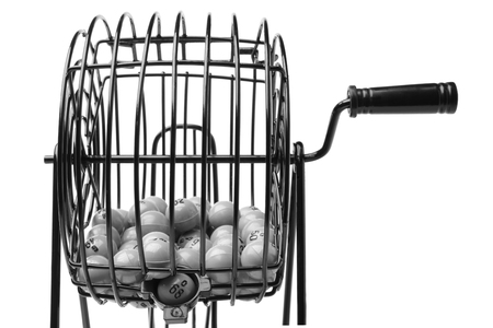 Bingo Game Cage isolated on white background 版權商用圖片