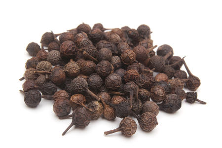 Cubeb pepper Piper cubeba on white background