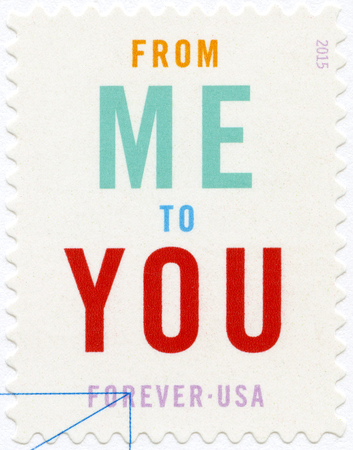 mail me: UNITED STATES OF AMERICA - CIRCA 2015: A stamp printed in USA dedicated From Me To You, Ceremony Program, circa 2015