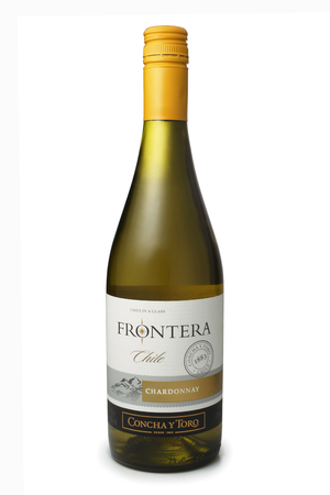 chardonnay: ST. PETERSBURG, RUSSIA - February 09, 2016: Bottle of Frontera Chardonnay, Vina Concha y Toro, S.A. Chile, 2014 Editorial