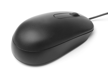 scrollwheel: Computer mouse on white background