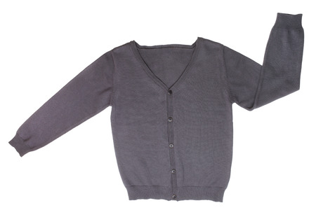 Childrens cardigan isolated on white background