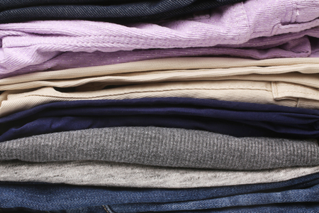 folded: Folded clothes, for backgrounds or textures