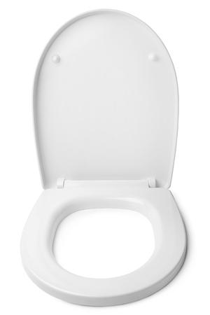 Toilet seat on white background