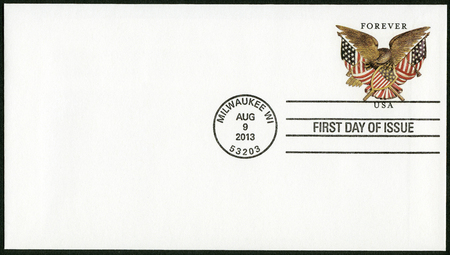 UNITED STATES OF AMERICA - CIRCA 2013: A stamp printed in the USA shows Folk Art Eagle, circa 2013