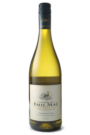 mas: ST. PETERSBURG, RUSSIA - March 06, 2016: Bottle of Vignobles Paul Mas Vermentino, France, 2013 Editorial