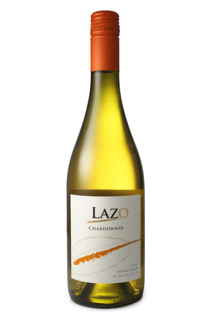 chardonnay: ST. PETERSBURG, RUSSIA - April 30, 2016: Bottle of Lazo, Chardonnay, Central Valley, Chile, 2014