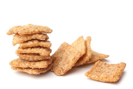 Cinnamon toast crunch on white background